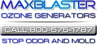 maxblaster ozone generators kill odor and mold