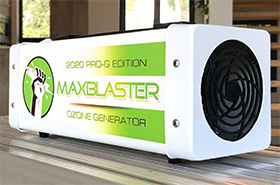 maxblaster pro-g edition 2020 ozone generator for odor removal in homes and vehicles